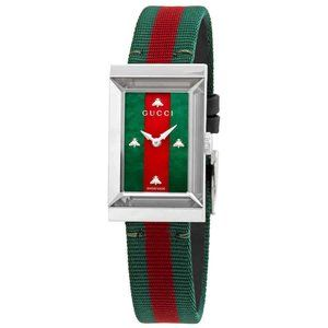 Gucci G-Frame Green and Red MOP Dial Ladies Watch